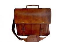 BEST Brown Mens Leather Messenger Bag Shoulder Laptop Briefcase Business Vintage