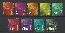 1994 Set of 9 Decimal Postage Dues, Sg D102-D110, Unmounted Mint.