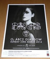 BANKS - UK live music tour concert / gig poster - march 2014 - hernameisbanks
