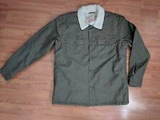 NEW MEN'S LEVI'S SHERPA MILITARY SHIRT JACKET IN OLIVE - size Medium (MSRP $130)