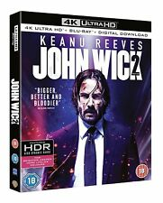 John Wick Chapter 2 4k Ultra HD Blu-ray Digital Download UK Region