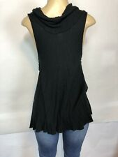 Free People Womens Black Size XS Cowl Neck Thermal Tank Cami Top NEW $48 Stretch