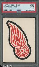 1977 O-Pee-Chee OPC Hockey #328 Detroit Red Wings Logo PSA 9 MINT