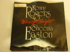 KENNY ROGERS/SHEENA EASTON-WE'VE GOT TONIGHT-Picture Sleeve & Disc 45 VINYL MINT