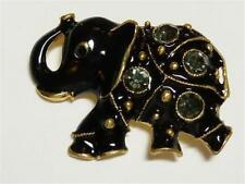 CG3097...GOLD PLATED & ENAMEL ELEPHANT BROOCH - FREE UK P&P