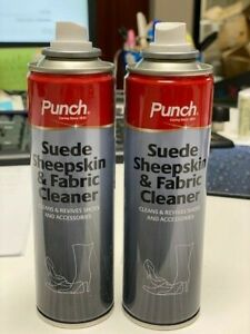 2 X Punch Suede Sheepskin&Fabric Cleaner For Shoes and Accessories 200ml