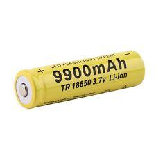 1pc 3.7V 18650 9900mah Li-ion Rechargeable Battery For LED Flashlight Torch QWE