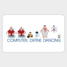 Wall-E Disney Smart Robot Computer Dancing Quote Vinyl Decal Laptop Car Sticker