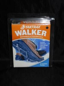 Yaktrax Walker Size L Black Winter Over Shoe Spikeless Walking Ice Snow 11.5-13