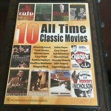 10 All Time Classic Movies Dvd. Zulu, Kill A Mockingbird, Triffids, 39 Steps Dvd