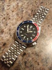"Vintage Seiko Automatic ""PEPSI"" All Stainless Steel Men's Divers Watch ""N.O.S."""