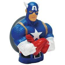 """MARVEL Capitán América Busto Banco 8"""" Marca Nuevo Gran Regalo Dinero Caja"""