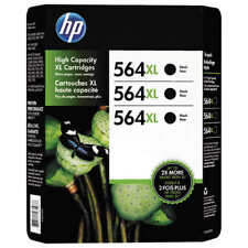 HP 564XL Ink Cartridge, Black, 3-count, New,Free UPS shipping,Exp 2020