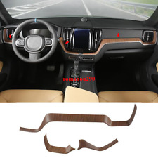 For Volvo XC60 2018 2019 Wood Grain Interior Dashboard Center Console Cover Trim