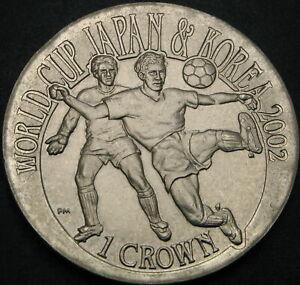 GIBRALTAR 1 Crown 2002 - FIFA World Cup 2002 - aUNC - 2139 ¤