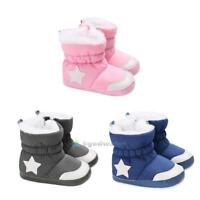 New Infant Toddler Baby Girls Boys Kids Boots Winter Thick Snow Boots Warm Shoes