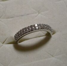 White Diamond Ring Sz. 8 38 diamonds .35tcw MSRP$724