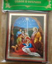 Russian wood icon Nativity Of Christ #6
