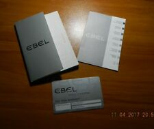 -Blank with booklet Ebel Warranty Card