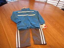 Boys Baby infant Puma active jacket pants set stripe grey Blue 24M 24 months $40