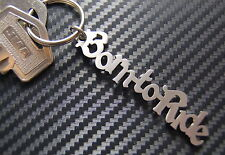 BORN TO RIDE Bike Personalised Name Keyring Keychain Key Stainless Steel Gift