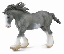 *NEW* CollectA 88620 Black Sabino Roan Clydesdale Stallion Horse 19.5cm Long