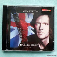 John Wetton Battle Lines CD *NEW King Crimson Jack-Knife Uriah Heep Robert Fripp