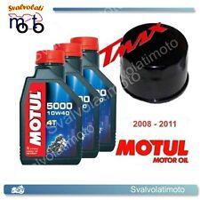 KIT TAGLIANDO YAMAHA T-MAX TMAX 2009 3 LITRI OLIO MOTUL 5000 10W40 + FILTRO OLIO