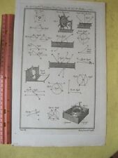 Vintage Print,AZIMUTH COMPASS,Dictionary of Art+Science,London,1778