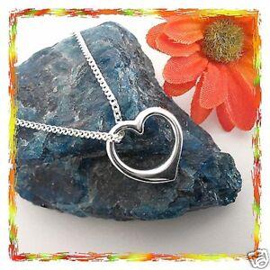 Herzanhänger Echt Silber Damen schmuck 925 mit Kette Herz Anhänger neu massiv