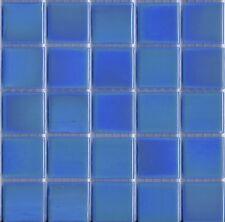 25pcs Bisazza Gloss Pearl GL 09 Dark Blue Glass Mosaic Tiles 20mm x 20mm x 4mm