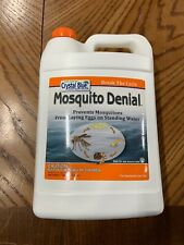 Crystal Blue Mosquito Denial-Prevents Mosquitos from Laying Eggs on water 1 GAL!