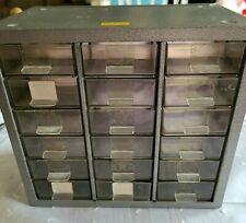 Vintage 18 Drawer Metal Akro Mils Parts Storage Organizer Cabinet Model Pm 18