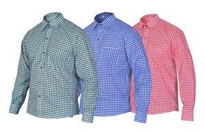 Traditional shirt German Bavarian Oktoberfest Lederhosen Trachten Checked shirt