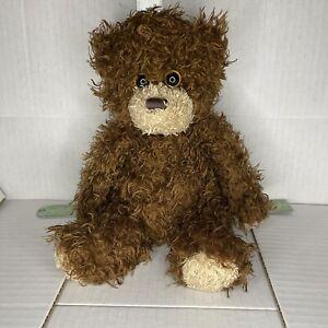 "Ty Beanie Baby Shaggy Classic Brown Bear Plush Stuffed Animal 12"" Soft 2010 NHT"