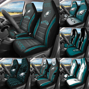 Set of Two Philadelphia Eagles Car Front Seat Covers Universal Cushion Protector
