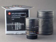 Leica M APO 75mm 2.0 asph. Summicron 6bit 11637 NEU FOTO-GÖRLITZ Ankauf+Verkauf