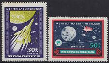 MONGOLIE N°157/158** Espace Lunik III 1959, MONGOLIA Space MNH