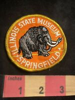 Vtg SPRINGFIELD ILLINOIS STATE MUSEUM Patch (Woolly Mammoth ?) 80N8