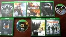 Xbox One 1 Game Lot (9 Games) Battlefield,Halo,2K,Diabl o,Mass Effect,Dying Light