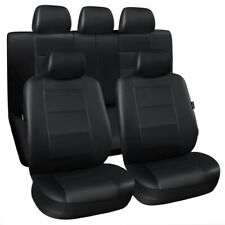 11pcs Universal Car Seat Covers Leather Front Rear Head Rests Full Set Cushion