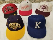 Pro-Line, Ncaa Fitted Hats. Vintage Lot of 5, all size 6 5/8. New, never worn