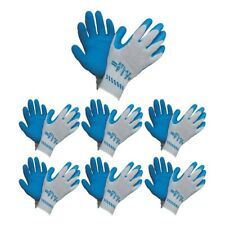 ATLAS Fit 300 Showa Latex Palm-Dipped Blue Medium Rubber Work Gloves, 12-Pairs