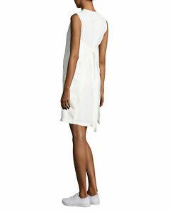 NEW HELMUT LANG Mini Apron Dress in Ivory - Size 6 #D2600