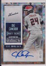 Dazmon Daz Cameron 2015 Panini Contenders Draft Cracked ICE Auto Card #06/23