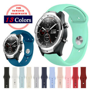 Silicone Sport Pin and Tuck Watch Band Strap for Ticwatch 2 E Tiawatch Pro GTX