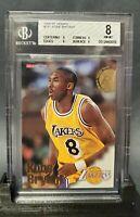 1996-97 Hoops #281 Kobe Bryant Rookie Bgs 8 NM-MT