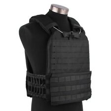 Black Tactical Molle Plate Carrier Vest Great For Crossfit & Endurance Training