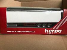 Herpa 1:87 HO Tri-axle Box Trailer White Model 75350