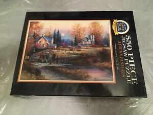 1996 AUTUMN PASTURES by Kirk Randle a Bits and Pieces 550 piece puzzle **NEW**